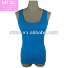 Seamless singlet with wide shoulder strap for women