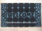 rubber floor mat outdoor carpet with welcome