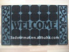 rubber floor mat outdoor carpet with welcome
