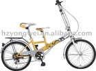 "20""double seat folding 6 speed bicycle"