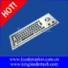 Rugged led backlight metal waterproof industrial kiosk keyboard with optical trackball