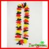 Fishcia Polyster Hawaiian Flower Lei Garland/ Polyester Flower Lei