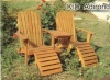 (W-C-3020) outdoor double wooden beach chair