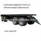 4 Axle Low Bed Semi Trailer 80T Loading Capacity