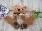 Promotion Animal hat scarf gloves