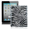 Zebra-Stripe Style Hard Case Cover for The New iPad / iPad 3 (White)