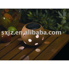 Terracotta Solar Sphere Light ,new solar garden light, ceramic solar light, cheap solar light