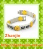 High quality health titanium gold plated bracelet