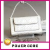 pure white ladies superb fashion leather tote bag