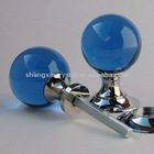 Blue crystal glass spherical mortice knobs