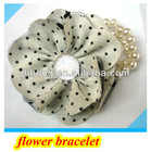 Wholesale wedding flower bridesmaid bracelet flax hair flower