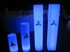 Illuminated pillar with light, led pillar for party