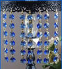 blue crystal beads strands, blue beads hanging glass chain wedding decoration