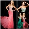Hot Sale Beaded Sweetheart Refine Custom Made Chiffon Mermaid Evening Dress 2013