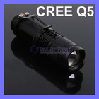 MINI CREE Q5 LED Flashlight Torch Ajustable Zoomable