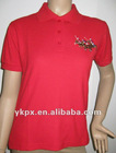 Ladies T-Shirt s/Embroidery Cotton Poly Mesh(OEM Service )