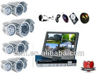 CCTV Solution--80M Full D1 500G H.264 DVR 4CH outdoor CCD camera Surveilance System Support Russian Laguage