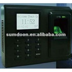 Black & white LCD High speed & veracity fingerprint Access & Attendance device ZTA9