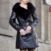 leather down coat L002WEI