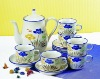 17pcs handpainted ceramic tea set