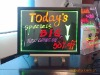 acrylic indoor menu sign LED writing board