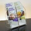 simple design acrylic brochure holder