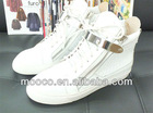 Fashion white leather shoes,designer casual shoes for women