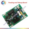 Feeding and takeup board for solvent printer