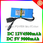 New arrival!!! usb rechargeable battery 12v 9000mah