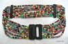2012 fashion beaded leather belt