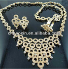 Wholesale Fashion Elegant Design 18K Gold Plated Costume Jewelry Set