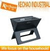 iron black industrial car charcoal bbq grill