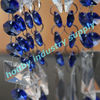 Faceted blue and clear colors hanging crystal bead chains
