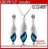 Wholesale latest 2012 fashion jewelry set