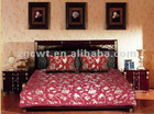 Jacquard flower design chenille bed sheet sets SC808
