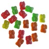 fruit gummy bear candy, colorful gummy candy
