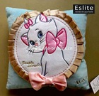 Plush Applique Girl's Cushion