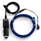 9.84Ft (3 meter) Blue EL Wire(Neon wire,electrolumines wire) with 12VDC Car Plug Driver