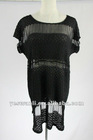 The 2012 polyester black bud silk embroider dress