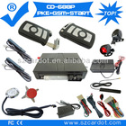 The Latest GSM car alarm with PKE function,moble start,remote start,push button start modes,programmable key