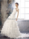 Hot Sale Sweet Heart Sheathy Layers Organza Skirt Bridal Dress