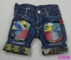 2012 Fashion denim child shorts jeans