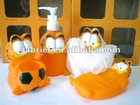 cartoon halloween bathroom sets soap holder,bathing ball,toothbrush holder,lotion bottle