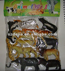 promotional plastic animal set for kids