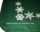 "Fleece Blanket Green 100% Polyester 37 X 63"""