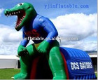 outdoor green dragon shaped inflatable tent