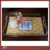 Table High Transparent Acrylic Cookie Tray With Resonable Handle