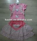 fashion new style girls 2 piece skirt clothing sets for girls