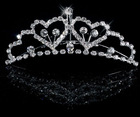 CR001 shinning silver crystals wedding crown