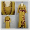GD3080 magnific long sleeve beaded taffeta ceremony dress